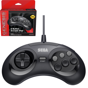 SEGA Genesis® 6-button Arcade Pad - Black