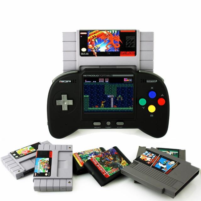 RetroDuo Portable with NES, SNES, Genesis Games