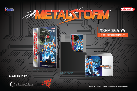 Metal Storm, Standard Edition, NES, Irem, Retro-Bit, Castlemania, Limited Run Games