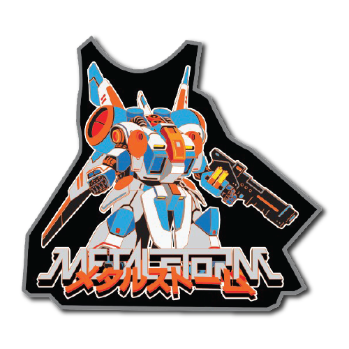 Metal Storm, metal, pin, collectible