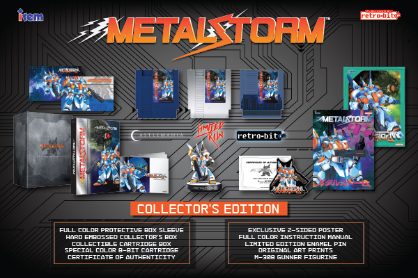 Metal Storm, Collector's Edition, NES, Irem, Retro-Bit, Castlemania, Limited Run Games