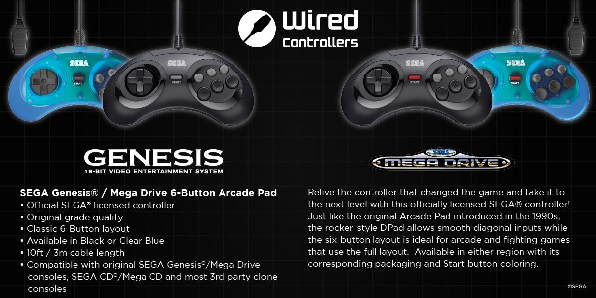 SEGA Genesis and Mega Drive Arcade Pads