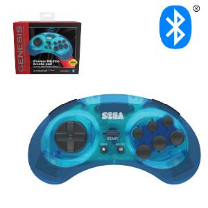 SEGA Genesis Bluetooth Control Pad - Clear Blue