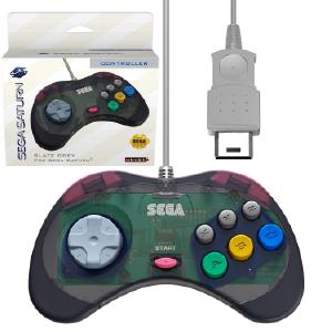 SEGA Saturn Control Pad - Model 2 - Original Port - Slate Grey