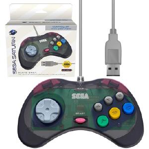 SEGA Saturn Control Pad - Model 2 - USB Port - Slate Grey