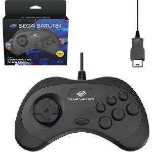 SEGA Saturn Control Pad - Model 2 - Original Port - Black (EU)