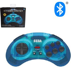 SEGA Megadrive Bluetooth Control Pad - Clear Blue (EU)