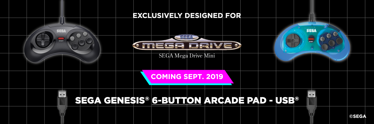 SEGA, Mega Drive, Mini, 6-Button, USB, Arcade Pad, Retro-Bit