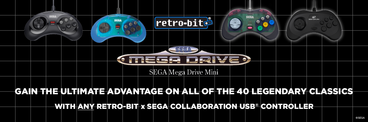 SEGA Collaboration, Retro-Bit, Controllers, Mini, Mega Drive, Europe