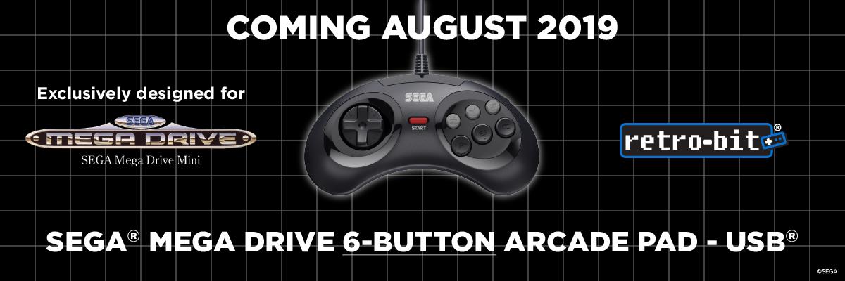 SEGA, Mega Drive, Mini, 6-Button, USB, Arcade Pad, Retro-Bit