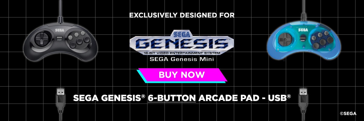 SEGA, Genesis, Mini, 6-Button, USB, Arcade Pad, Retro-Bit
