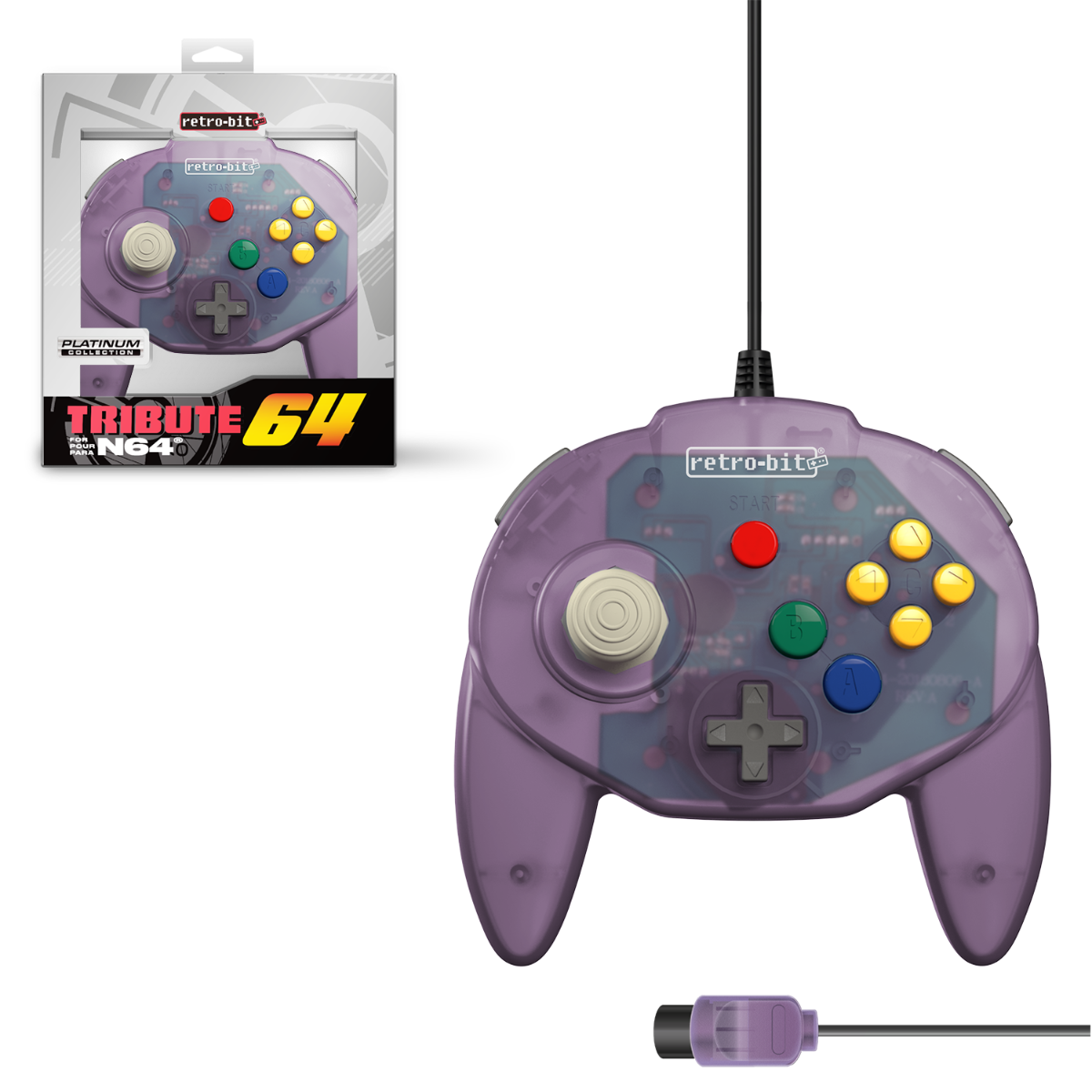 Tribute64 for N64 - Atomic Purple
