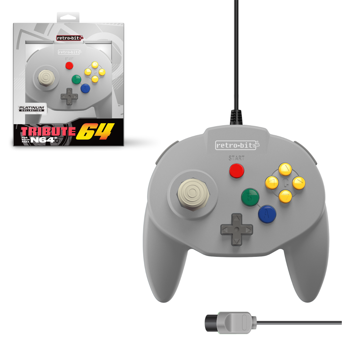 Tribute64 for N64 - Classic Grey