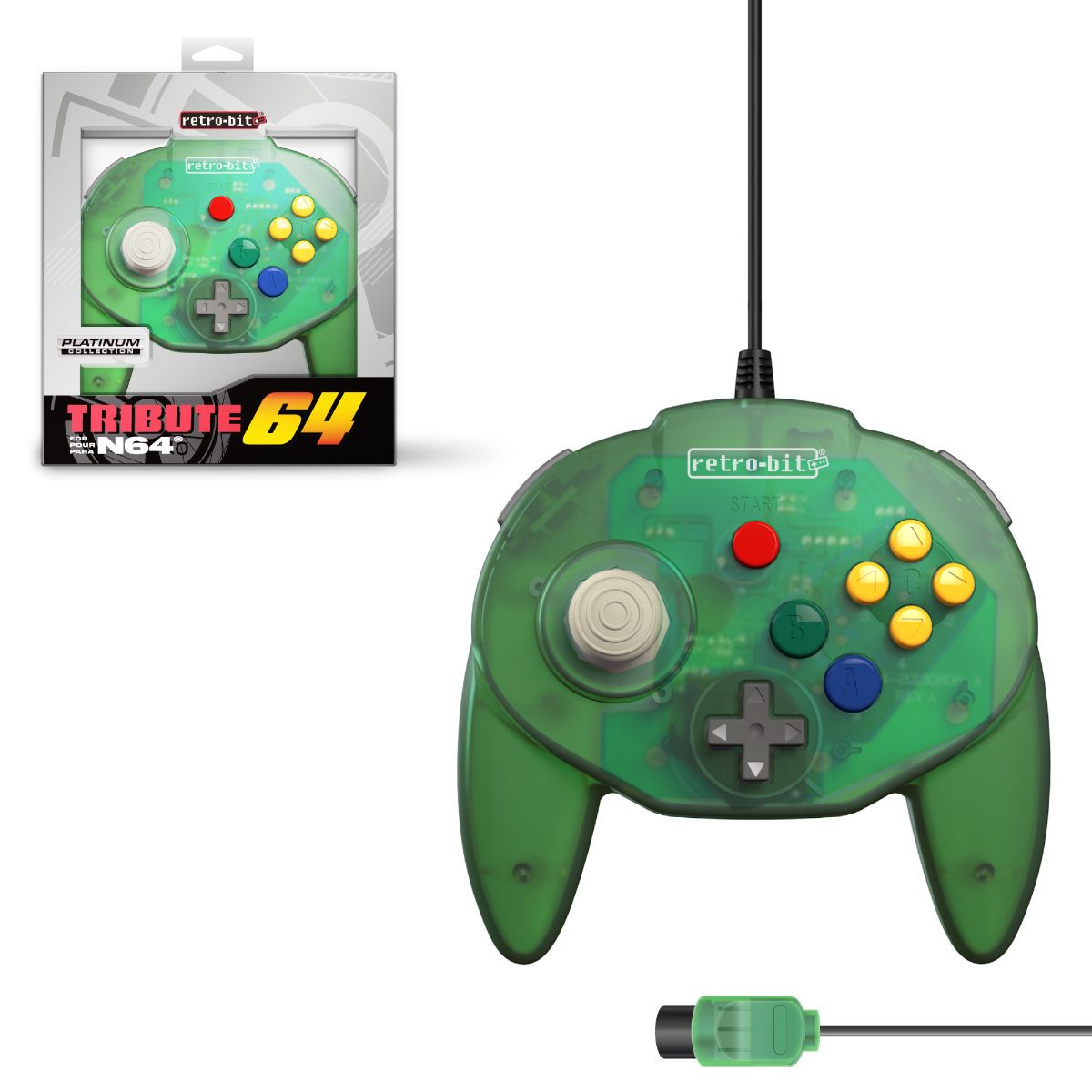 Tribute64, forest green, N64, nintendo 64, tribute