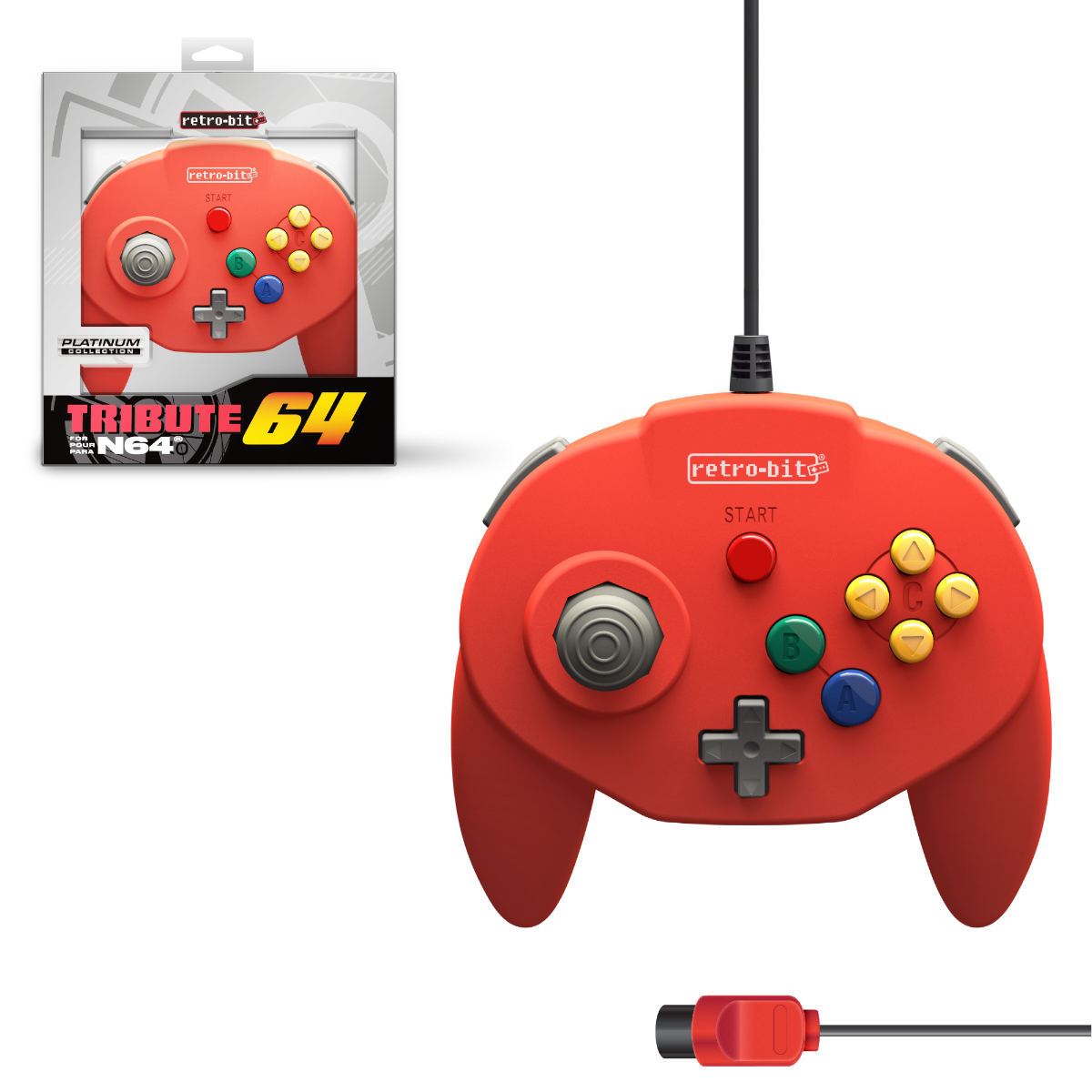 Tribute64, red, N64, nintendo 64, tribute