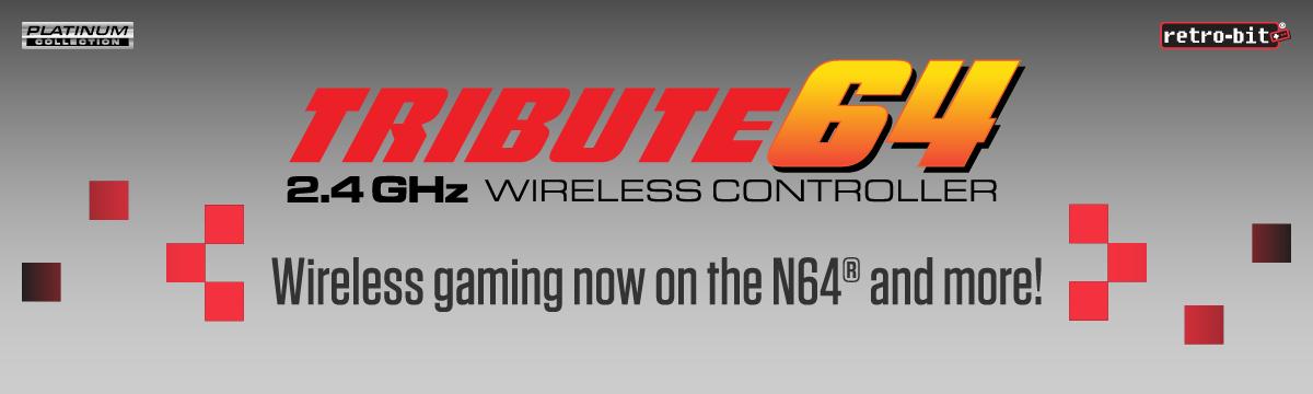 Retro-Bit Tribute64 2.4 GHz Wireless Controller