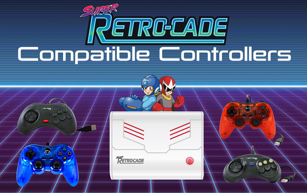 Super Retro-Cade Compatible Controllers
