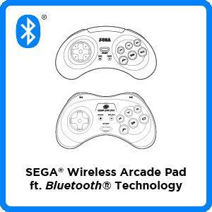 SEGA, Genesis, Mega Drive, Saturn, Controller, Arcade Pad, 8-button, Firmware, Bluetooth, Wireless, Switch, PC, Mac, PS3, Android, iOS, Apple, Update