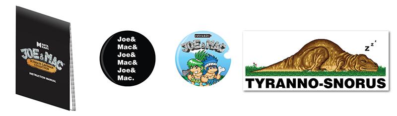 Joe & Mac Buttons & Stickers