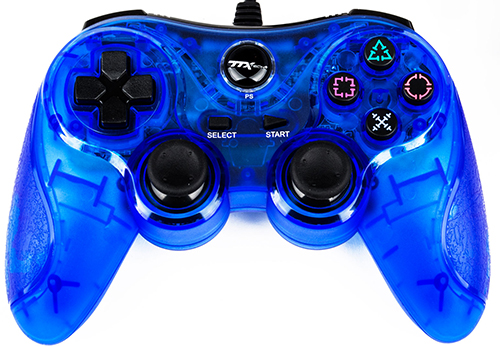 TTX Tech PS3 USB Controller (Clear Blue)
