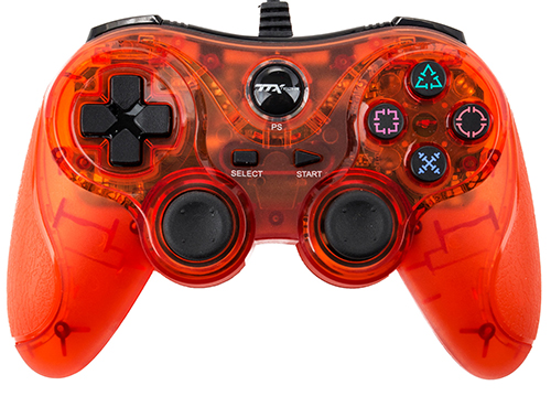 TTX Tech PS3 USB Controller (Clear Red)