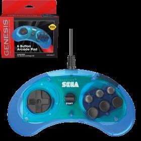 SEGA Genesis® 6-button Arcade Pad - Clear Blue