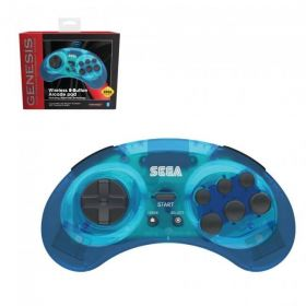 SEGA Genesis Bluetooth Control Pad - Clear Blue