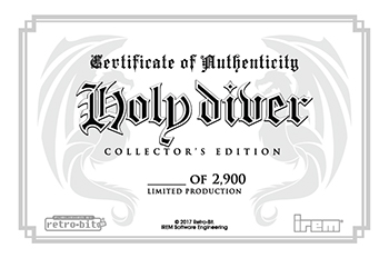 Individually Numbered Certificate of Authenticity