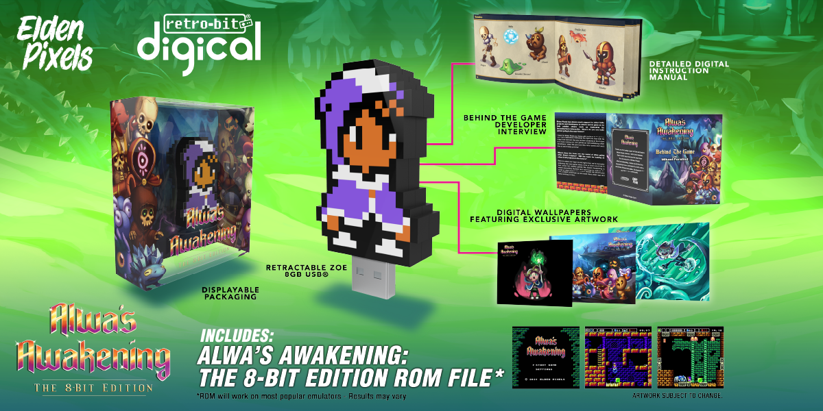 Alwa's Awakening: The 8-Bit Edition - Digical Collage