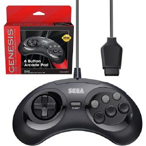 SEGA Genesis 6-button Arcade Pad - Original Port - Black