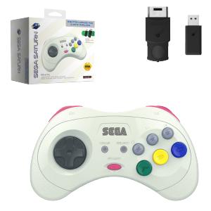 SEGA Saturn Control Pad - Model 2 - Wireless 2.4ghz - White