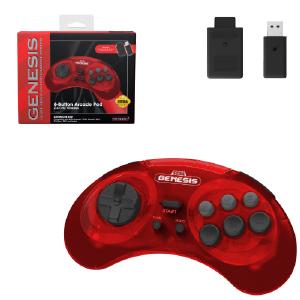 SEGA Genesis 2.4 GHz Arcade Pad - Crimson Red
