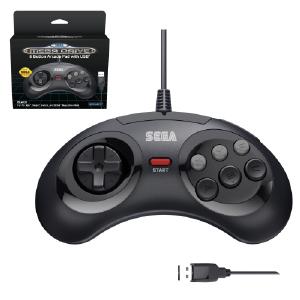 SEGA Megadrive 6-button Arcade Pad - USB Port - Black (EU Version)