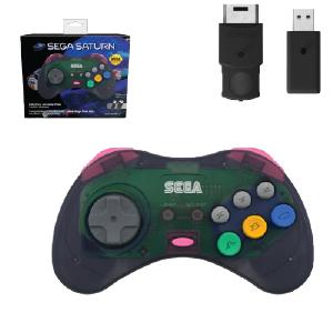 SEGA Saturn Control Pad - Model 2 - Wireless 2.4ghz - Slate Grey (EU Version)