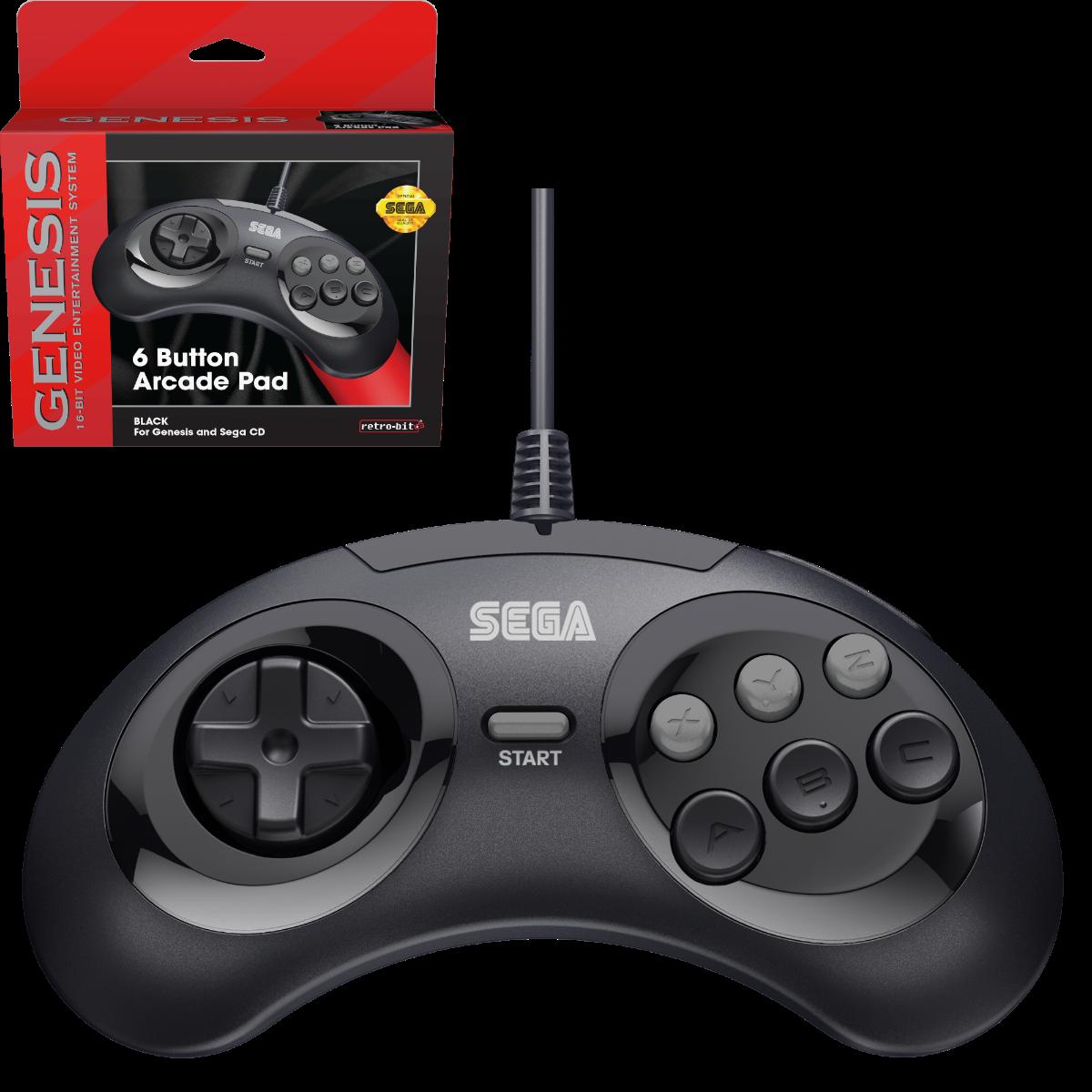 SEGA, Genesis, Arcade Pad, 6 Button, Black, Original