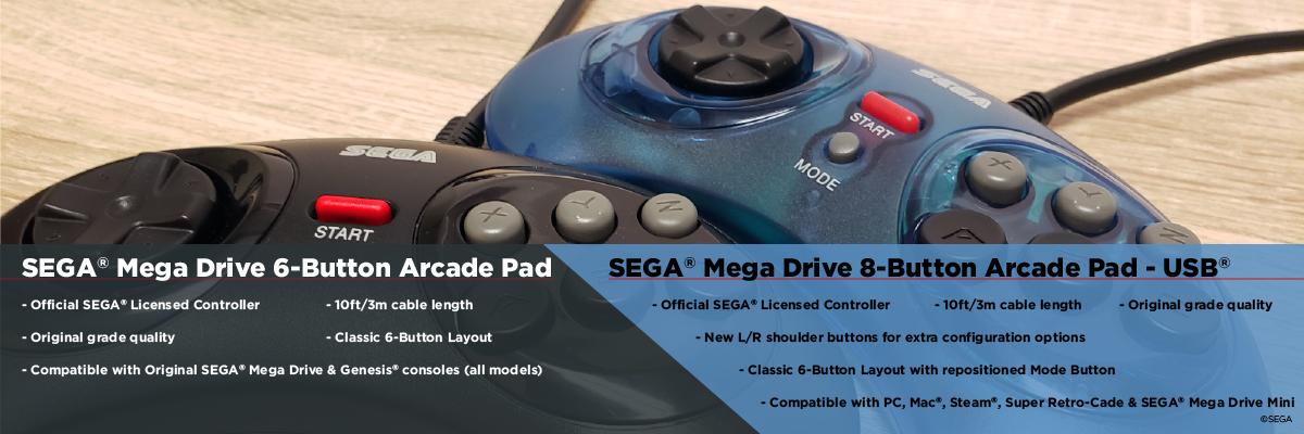Mega Drive, Controller, Arcade, Retro-Bit, USB