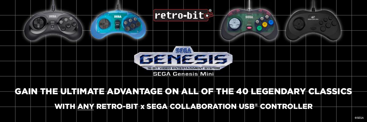 SEGA, Genesis, Mini, 6-Button, USB, Arcade Pad, Retro-Bit