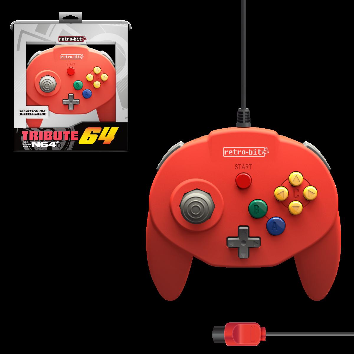 Tribute64, red, N64, nintendo 64, tribute