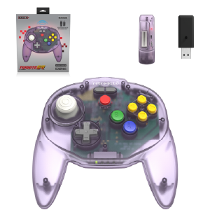Tribute64 2.4 GHz Wireless Controller - Atomic Purple
