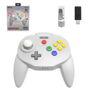 Tribute64 2.4 GHz Wireless Controller - Classic Grey