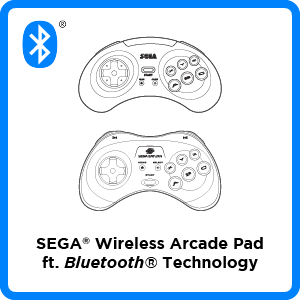 SEGA, Genesis, Mega Drive, Saturn, Controller, Arcade Pad, 8-button, Firmware, Bluetooth, Wireless, Switch, PC, Mac, PS3, Android, iOS, Apple, Update